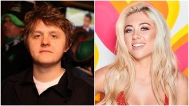 Lewis Capaldi and Paige Turley