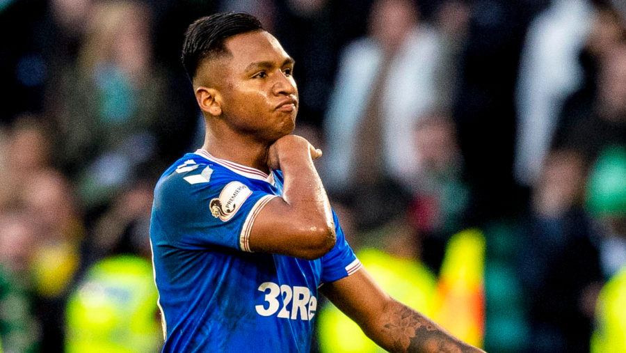 Morelos was sent off during Rangers ' win at Celtic Park.