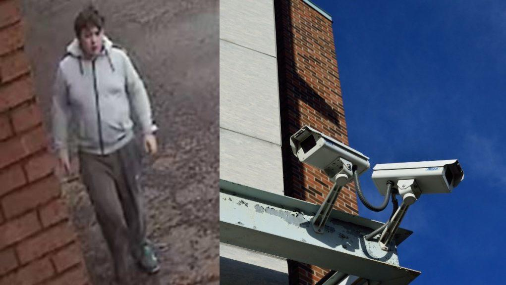 CCTV: Police want to speak to the man pictured.