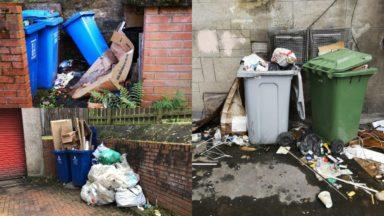 Bin collections, Glasgow.