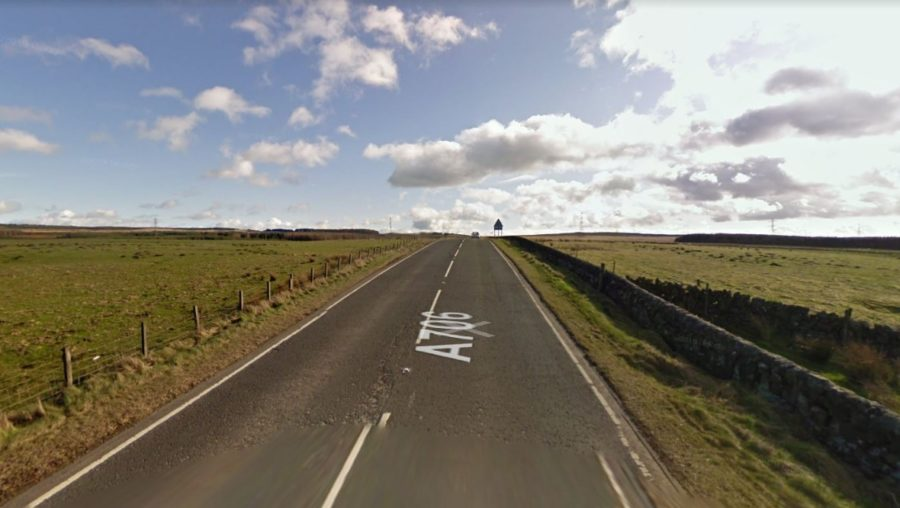 A706: Cyclist struck by lorry