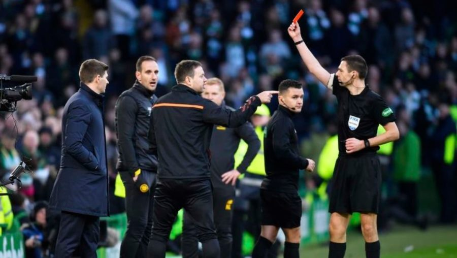 Charge: Michael Beale was dismissed from touchline against Celtic