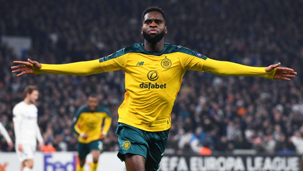 Odsonne Edouard put Celtic ahead in the first half.