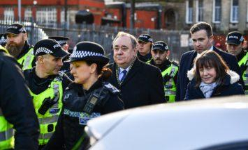 GLASGOW, SCOTLAND - FEBRUARY 17:Former Scottish first minister Alex Salmond departs from the High Court following a preliminary hearing on sexual assault charges on February 18, 2020 in Glasgow, United Kingdom. Mr Salmond has been accused of fourteen counts of sexual assault and attempted rape the full trial is due to start on 9 March 2020.(Photo by Jeff J Mitchell/Getty Images)