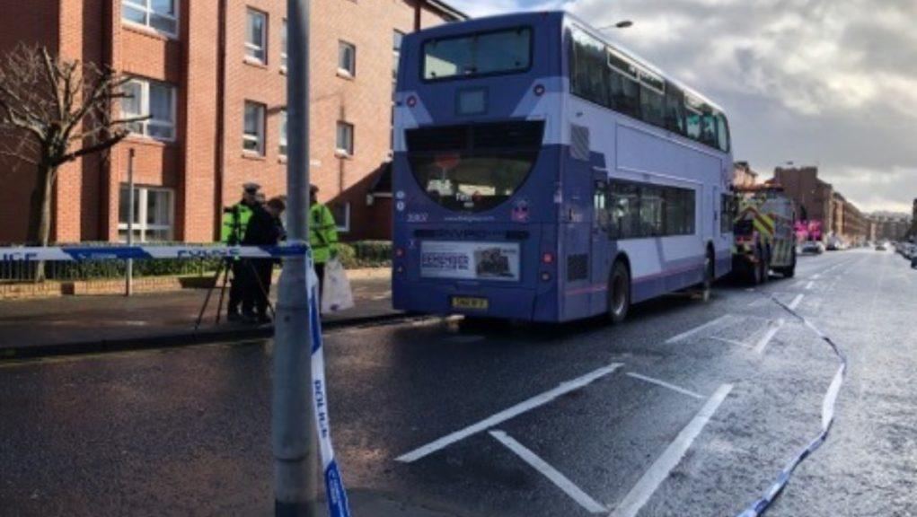 Bus: A double decker was involved in the incident.