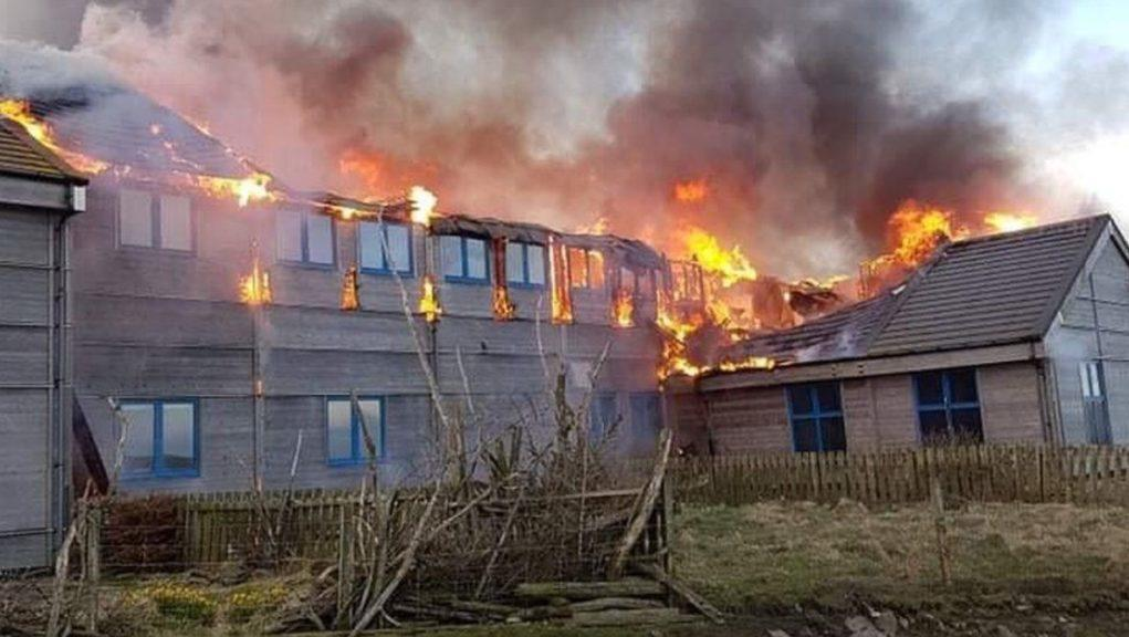 Blaze: Fire-hit observatory has rebuild delayed by pandemic.