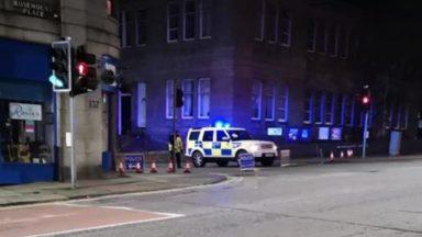 Wallfield Crescent, Aberdeen, bomb.