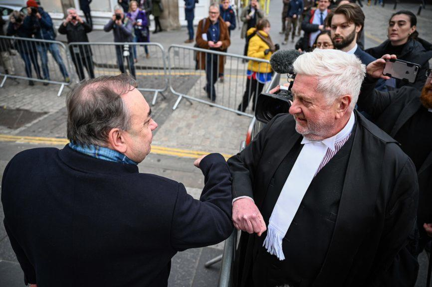Trial: Alex Salmond was cleared at the High Court in Edinburgh last year.