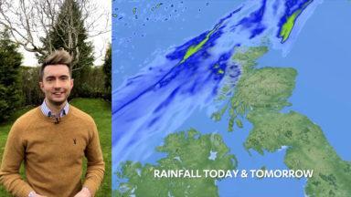 Coronavirus Sean Batty reporting weather from home.