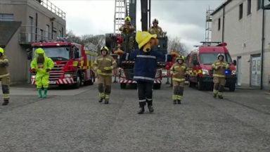Firefighters break into a Tik Tok dance.