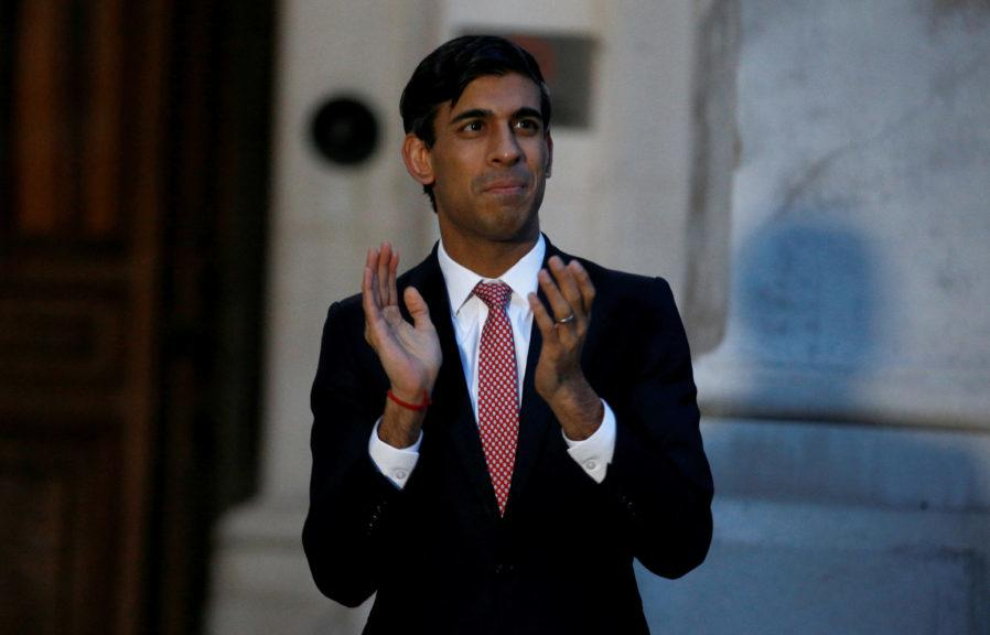 Support: Rishi Sunak says he is 'proud' to support Scottish businesses.