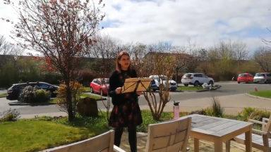 Univeristy student is spending her quarantine singing for care home residents.