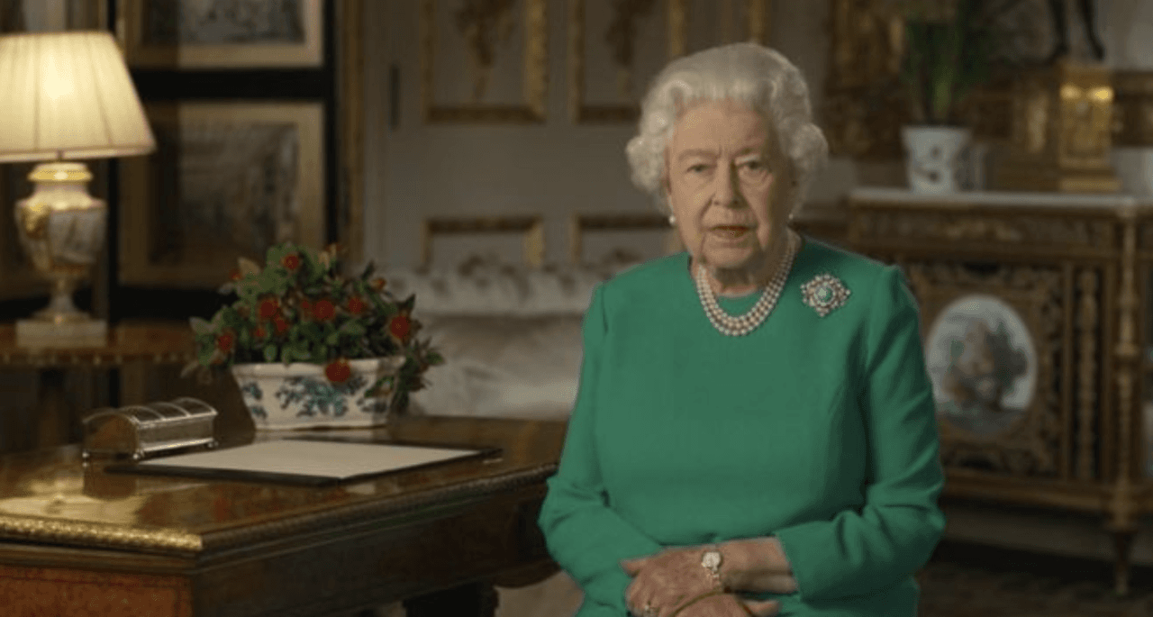 The Queen made an address to the nation
