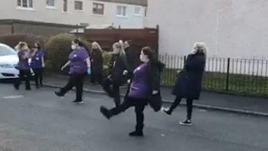 Carers dance to support key workers across the country.