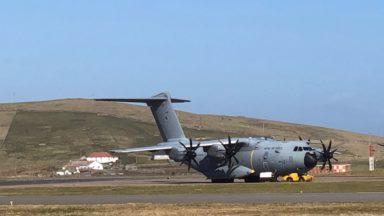 Military airlift, coronavirus.