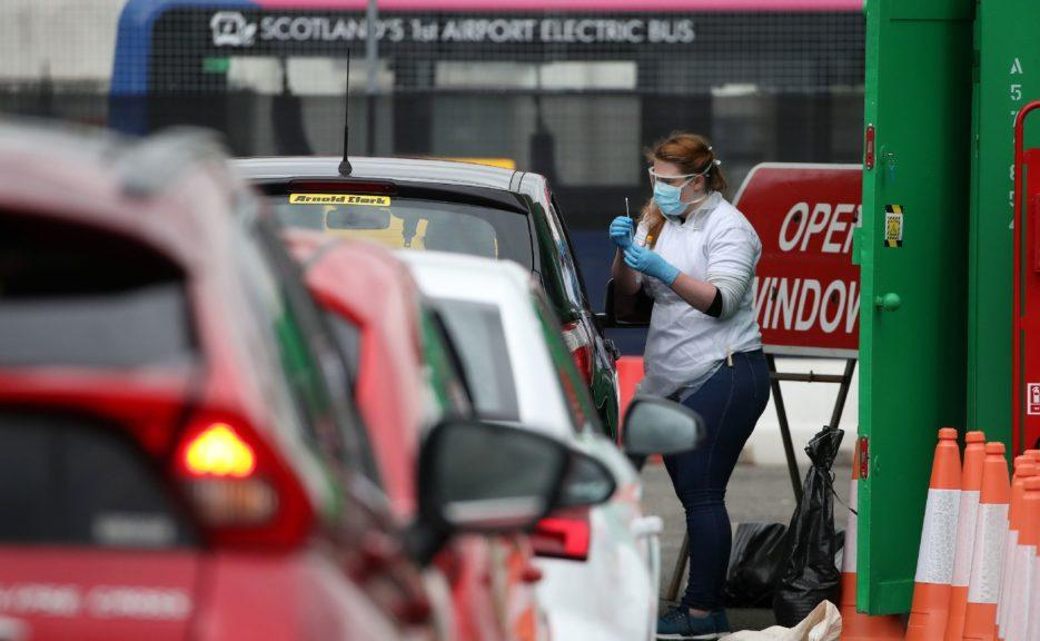 Coronavirus case rates have fallen across 75% of local authorities in Scotland.