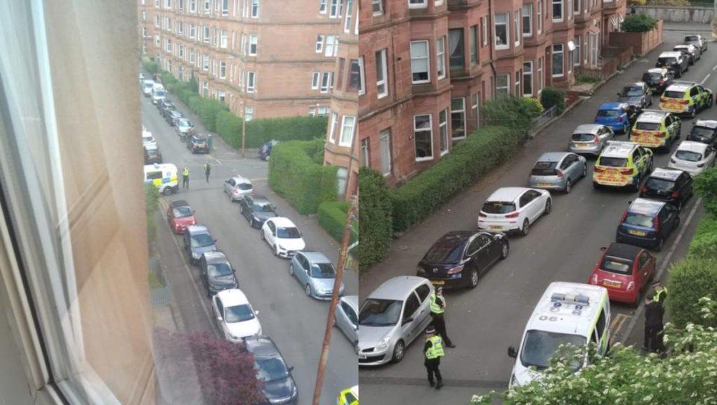 Police responding to Glasgow incident.