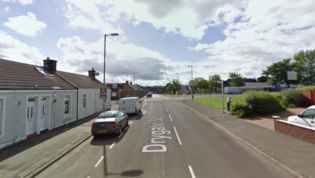 Police probe: Drygate Street, Larkhall.