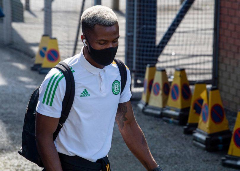 Uncertain future: Celtic are considering  Celtic's Boli Bolingoli's future at the club.