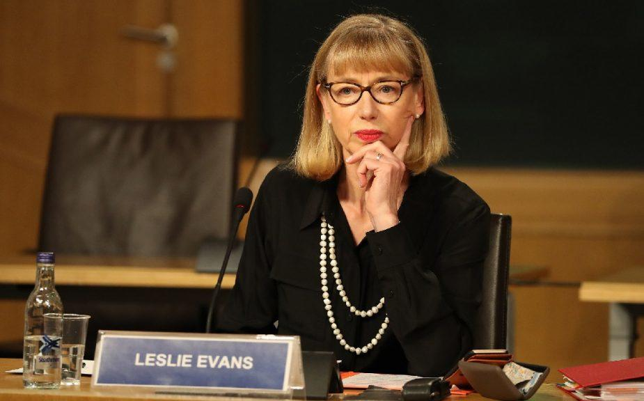 Inquiry: Leslie Evans appears before MSPs last Tuesday.