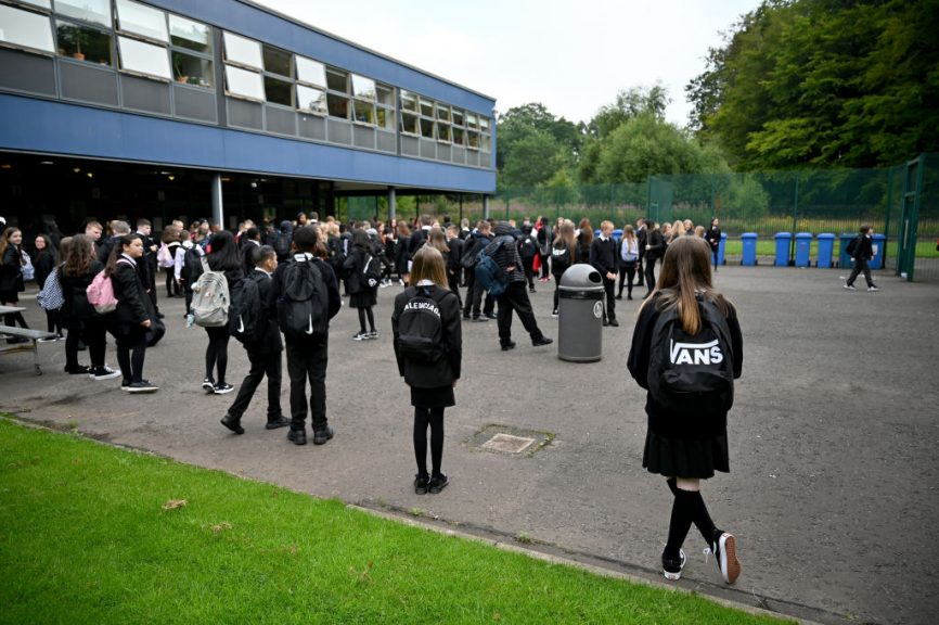 Secondary school pupils in some council areas are back to full-time in-person learning.