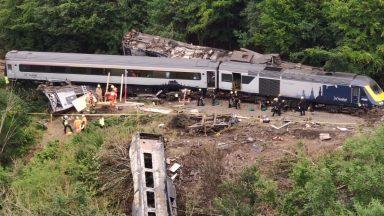 Stonehaven train crash.