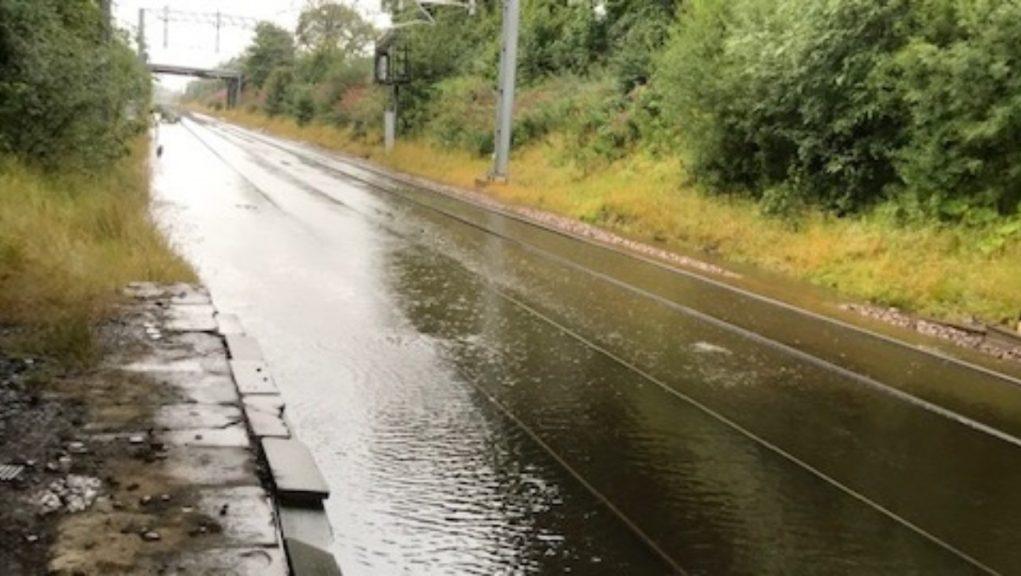 Flooding at Lenzie.