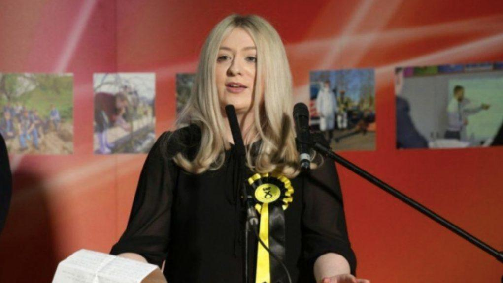 Amy Callaghan: SNP MP in virtual return to parliament.
