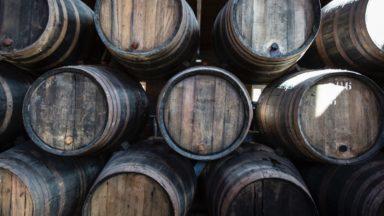 Whisky barrels.