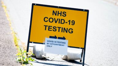 DUNFERMLINE, SCOTLAND - MAY 27: Cameron Hospital Test Centre during the ongoing coronavirus pandemic, on May 27, 2020, in Dunfermline, Scotland.