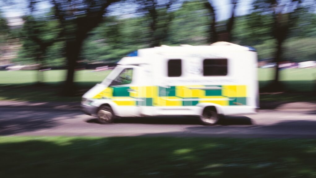 Five people rushed to hospital.