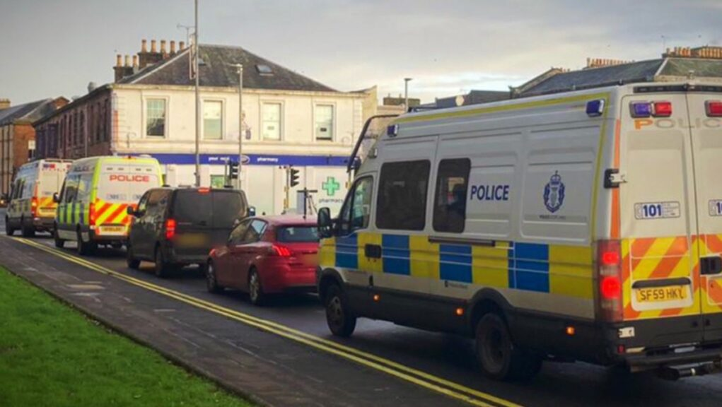 Police: Officers raided two properties in East Ayrshire.