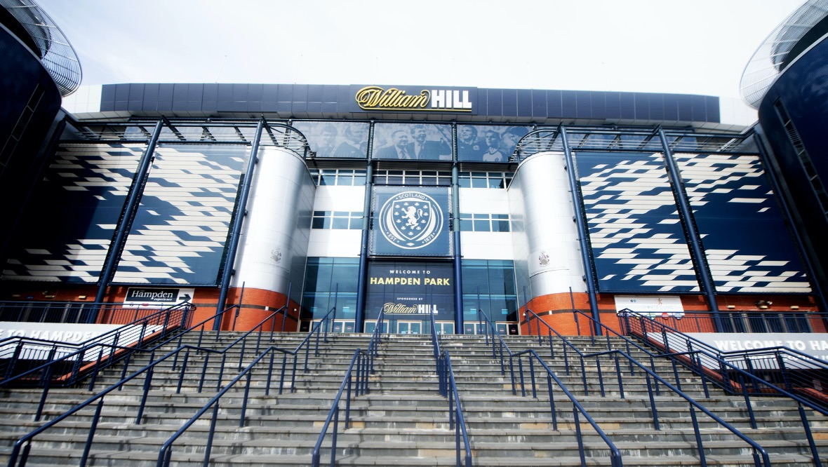 GLASGOW, SCOTLAND - APRIL 14: Hampden Park Stadium, on April 14, 2020, in Glasgow, Scotland. (Craig Williamson / SNS Group)