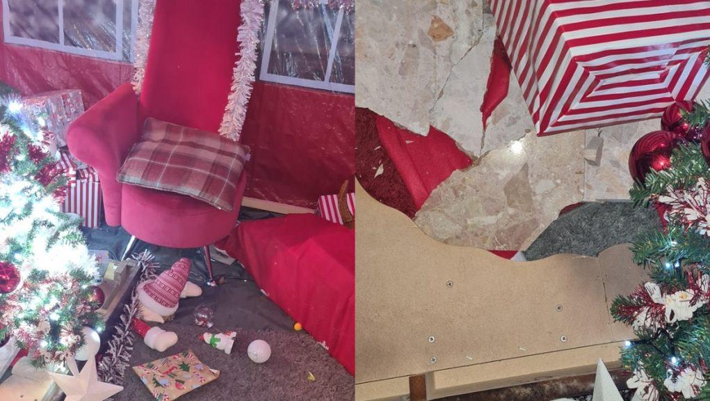 Vandals targeted Santa's grotto in Fife.