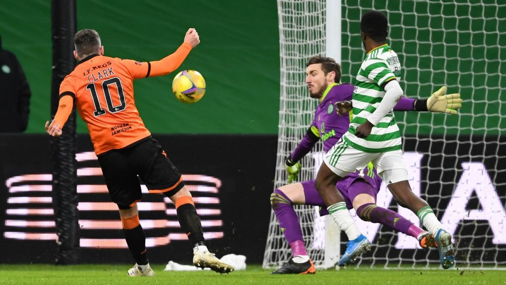 Barkas returned to the Celtic team for the win over Dundee United.