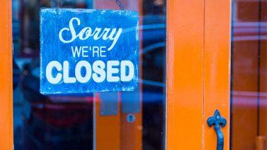 Coronavirus, closed shop.