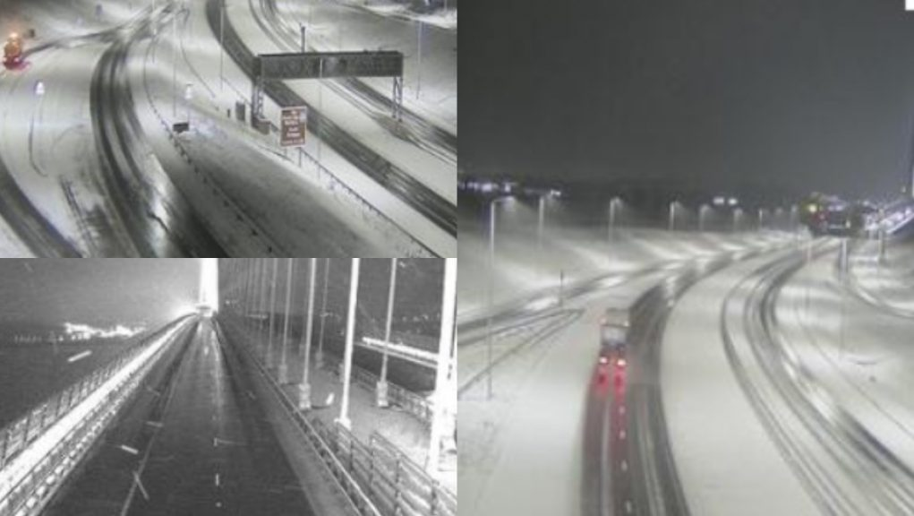 Queensferry Crossing: The bridge was closed due to a risk of falling ice.