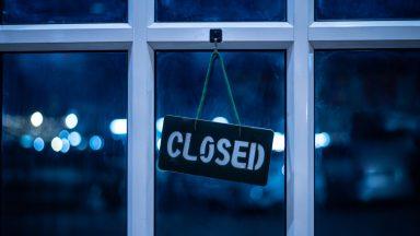 Coronavirus, shop closed.
