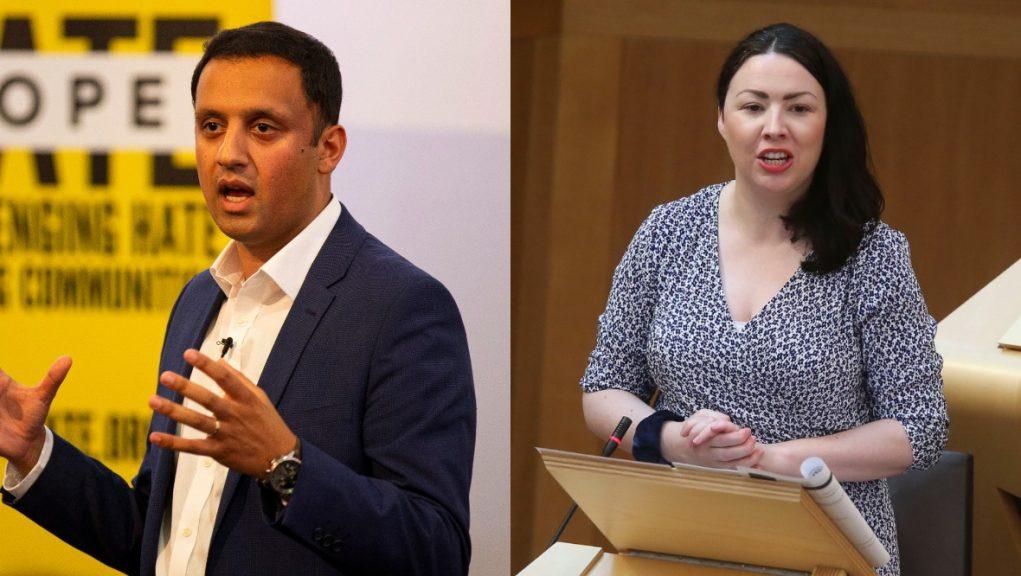 Leadership race: Anas Sarwar and Monica Lennon.