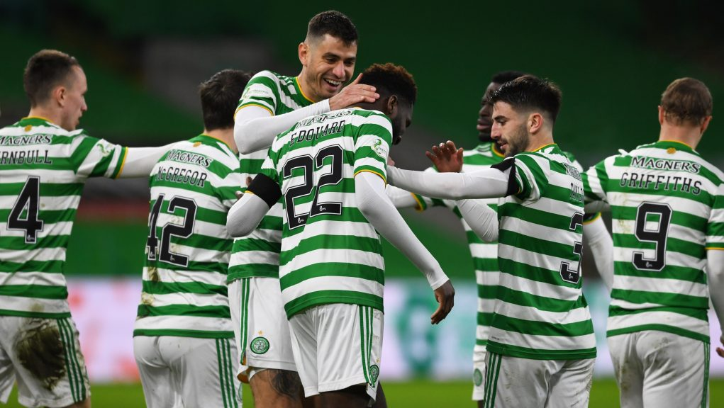 Odsonne Edouard scored Celtic's second against Accies.