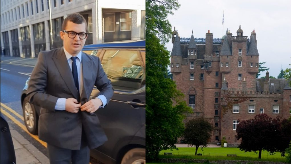 Bowes-Lyon was sentenced at Dundee Sheriff Court over the Galmis Castle assault.