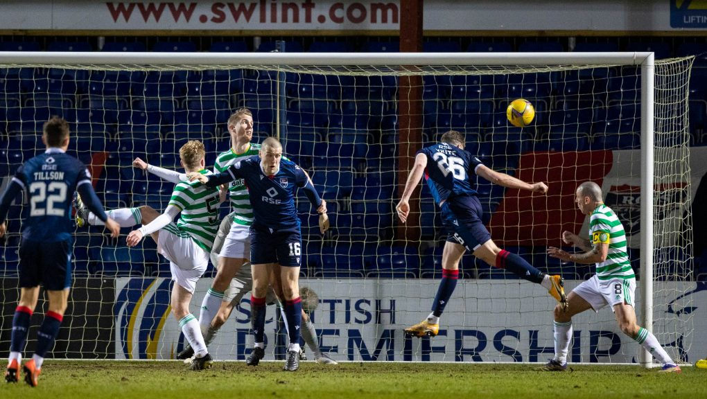 Jordan White scored the only goal of the game in Dingwall.