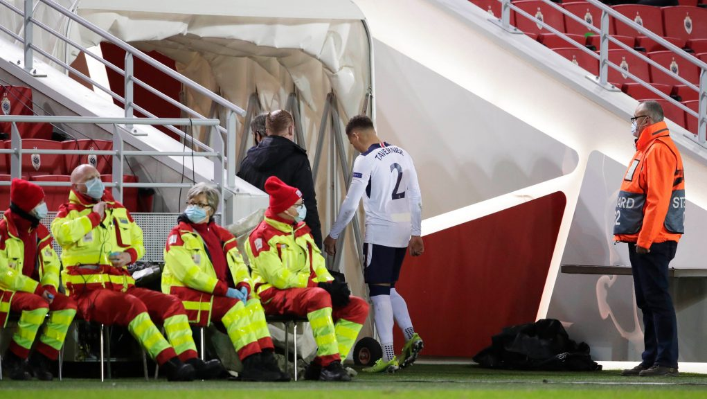 Tavernier was injured during the Europa League win over Royal Antwerp.