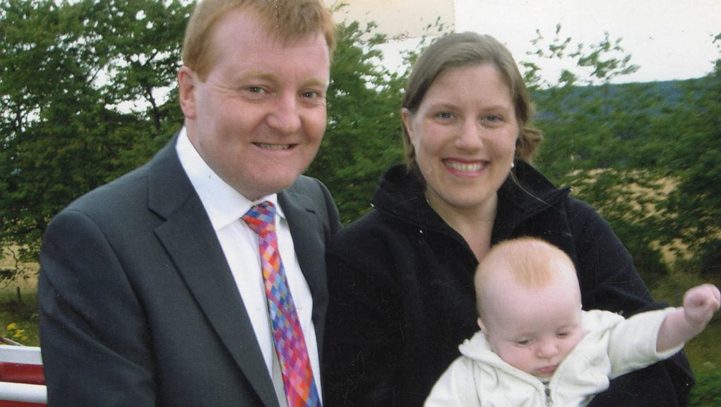 Charles Kennedy with his then wife Sarah and their son Donald in 2005.