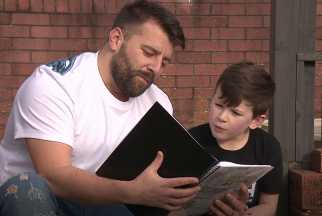 Young boy writes a book to raise funds for a local hospital.