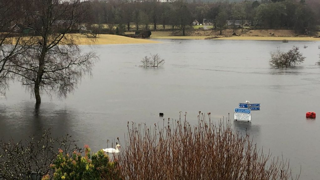 Areas in Scotland have been hit with heavy flooding.