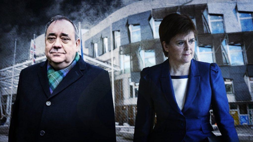 Former first minister Alex Salmond and his successor Nicola Sturgeon.