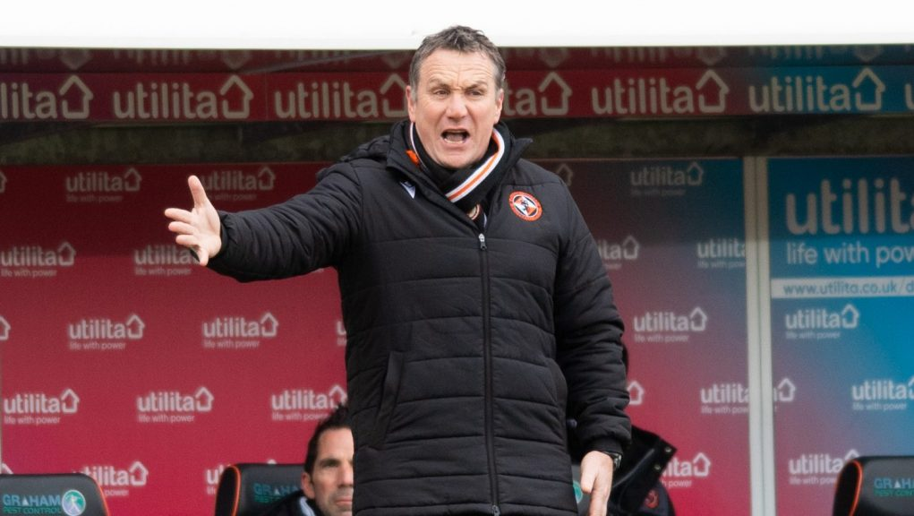 Mellon: Dundee United manager will take his side to Glasgow on Sunday.
