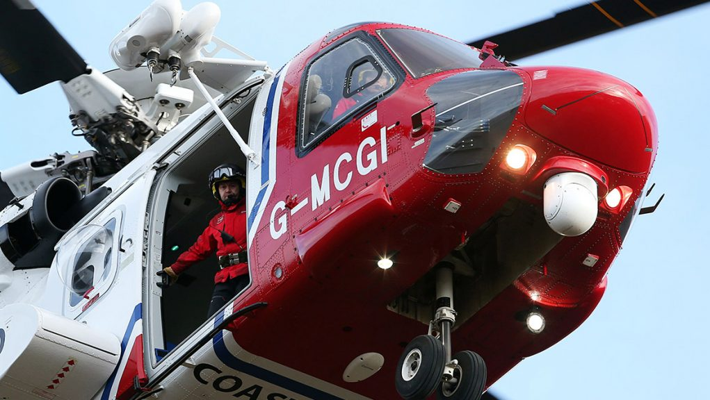 Man was airlifted to hospital in Lerwick after falling overboard.