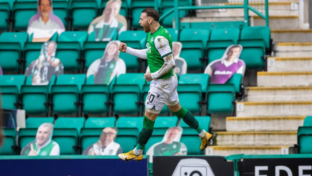 Martin Boyle opened the scoring at Easter Road.